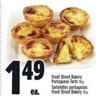 Front Street Bakery Portuguese Tarts