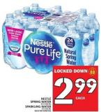 Nestlé Spring Water Or Sparkling Water