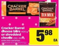 Cracker Barrel Cheese Bars - 400 G Or Shredded Cheese - 250-320 G