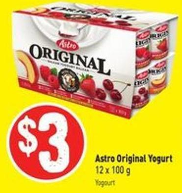 Astro Original Yogurt 12 X 100 g