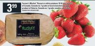 Farmer's Market Russet Or White Potatoes 10 Lb Bag - Strawberries Quart