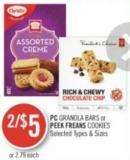 PC Granola Bars or Peek Freans Cookies
