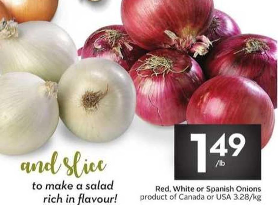 Red - White or Spanish Onions