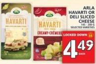 Arla Havarti Or Deli Sliced Cheese
