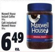 Maxwell House Instant Coffee 150 g