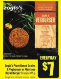 Zoglo's Plant Based Grains & Vegburger or Meatless Royal Burger Frozen 375 g