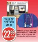 Olay Total Effects Nighttime Nourishment Set or Vaseline Winter Night Self Care Kit
