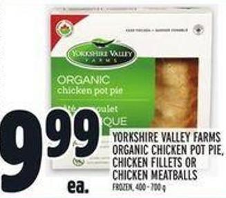 Yorkshire Valley Farms Organic Chicken Pot Pie - Chicken Fillets Or Chicken Meatballs
