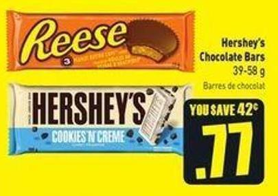 Hershey's Chocolate Bars 39-58 g