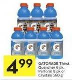 Gatorade Thirst Quencher 6 Pk - Perform 8 Pk or Crystals 560 g