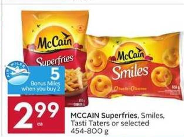 Mccain Superfries - 5 Air Miles Bonus Miles