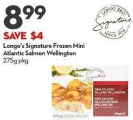 Longo's Signature  Frozen Mini  Atlantic Salmon  Wellington 275g Pkg
