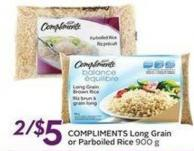 Compliments Long Grain or Parboiled Rice 900 g