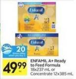 Enfamil A+ Ready To Feed Formula - 20 Air Miles Bonus Miles