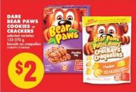 Dare Bear Paws Cookies or Crackers - 135-270 g