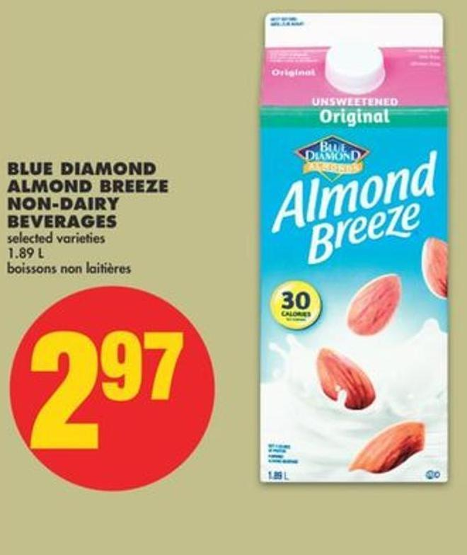 Blue Diamond Almond Breeze Non-dairy Beverages - 1.89 L