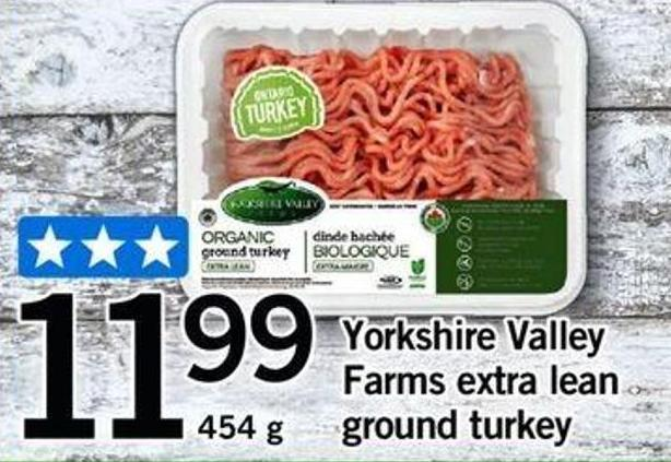 Yorkshire Valley Farms Extra Lean Ground Turkey
