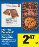 PC The Decadent - 280/300 G Or Concerto Cookies - 240 G