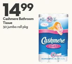 Cashmere Bathroom Tissue 30 Jumbo Roll Pkg