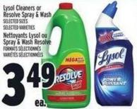 Lysol Cleaners Or Resolve Spray & Wash