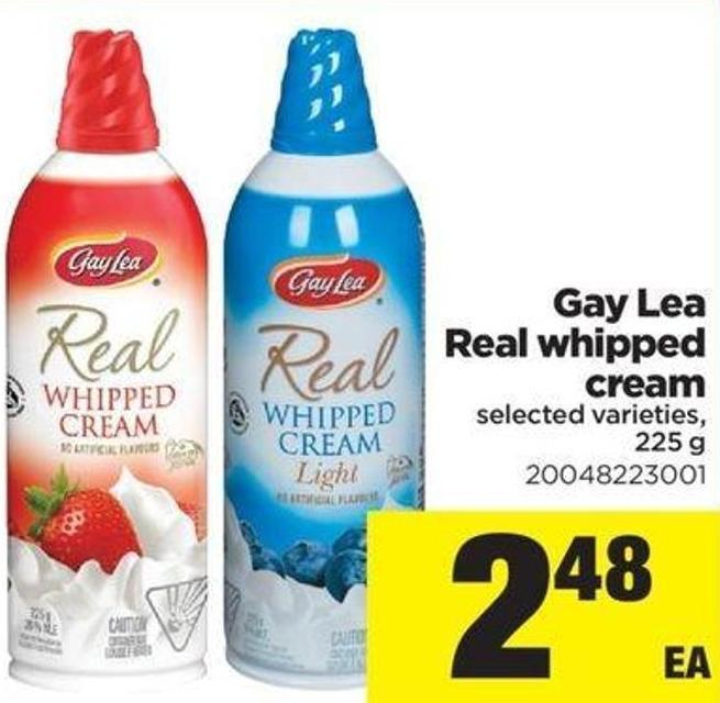 Gay Lea Real Whipped Cream - 225 g