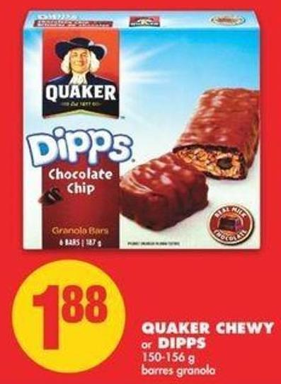 Quaker Chewy Or Dipps - 150-156 G