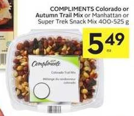 Compliments Colorado or Autumn Trail Mix