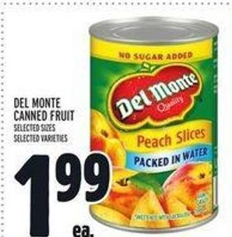Del Monte Canned Fruit