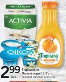 Tropicana Or Danone Yogurt - 2-8's