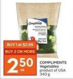 Compliments Vegetables Product of USA 340 g