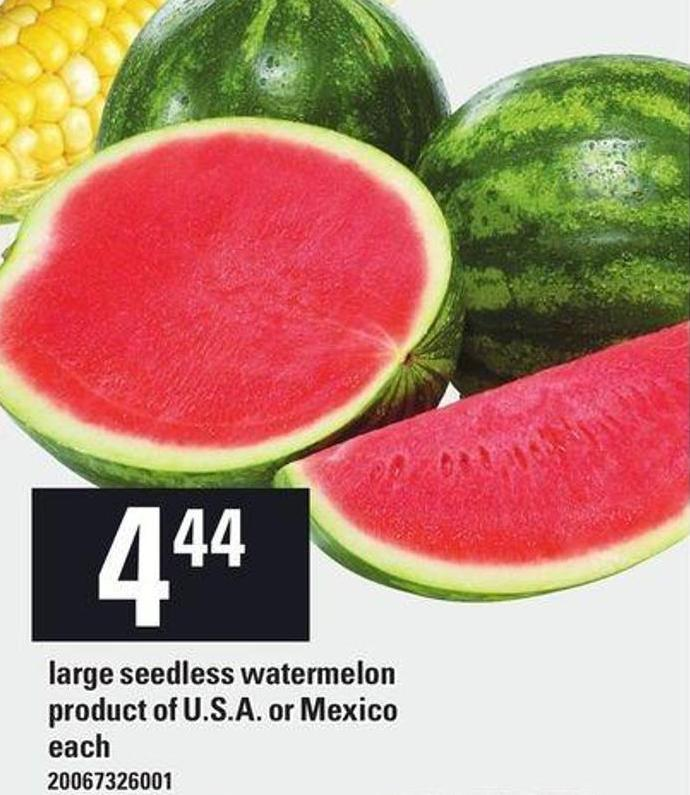 Large - Seedless Watermelon
