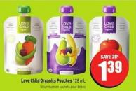 Love Child Organics Pouches 128 mL