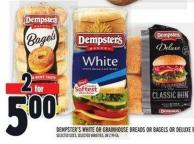 Dempster's White Or Grainhouse Breads Or Bagels Or Deluxe Buns