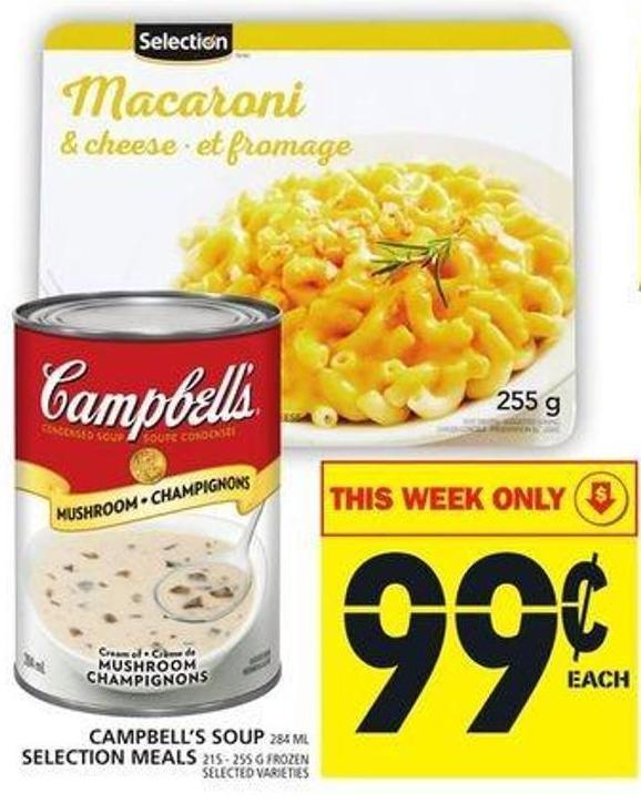 Campbell's Soup Or Selection Meals