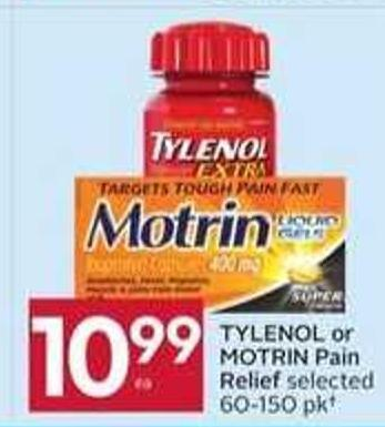 Tylenol or Motrin Pain Relief - 50 Air Miles Bonus Miles