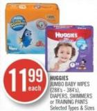 Huggies Jumbo Baby Wipes (288's - 384's) - Diapers - Swimmers or Training Pants