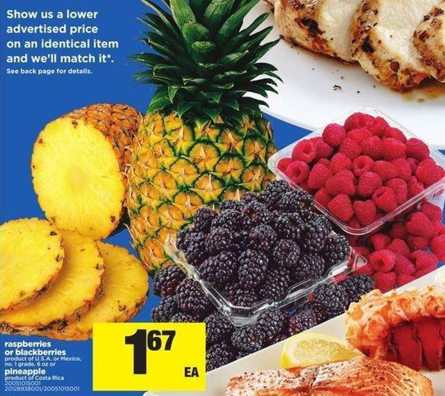 Raspberries Or Blackberries Or Pineapple