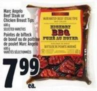 Marc Angelo Beef Steak Or Chicken Breast Tips 600 g