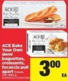 Ace Bake Your Own Demi Baguettes - Croissants - Focaccia Pull Apart - 210-460 g