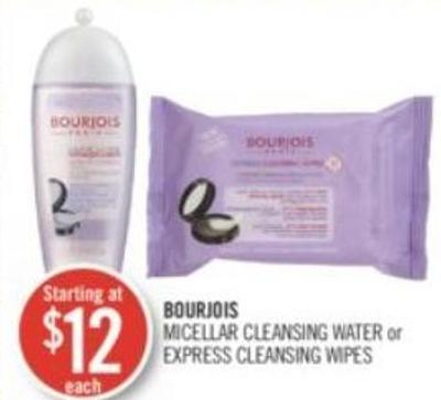 Bourjois Micellar Cleansing Water or Express Cleansing Wipes