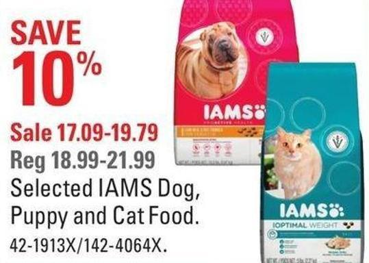 Selected Iams Dog - Puppy and Cat Food