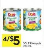 Dole Pineapple 398 mL