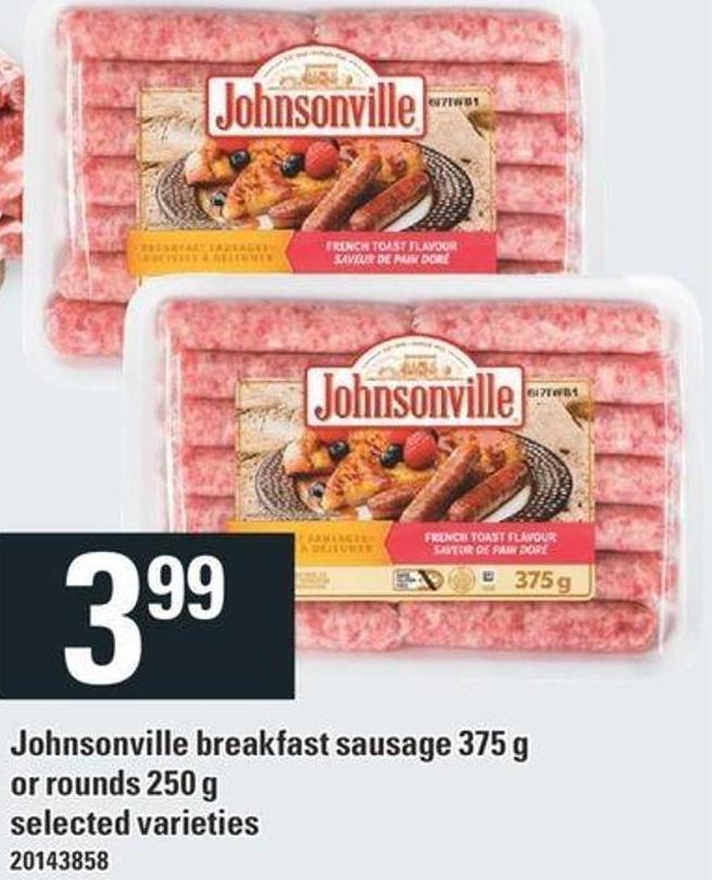 Johnsonville Breakfast Sausage 375 G Or Rounds 250 G