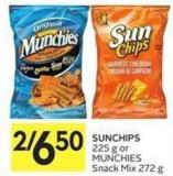 Sunchips 225 g or Munchies Snack Mix 272 g