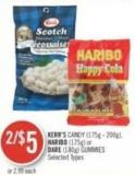 Kerr's Candy (175g - 200g) - Haribo (175g) or Dare (180g) Gummies