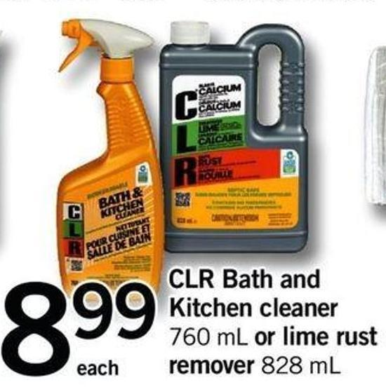 Clr Bath And Kitchen Cleaner - 760 Ml Or Lime Rust Remover - 828 Ml