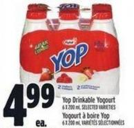 Yop Drinkable Yogourt 6 X 200 ml
