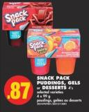 Snack Pack Puddings - Gels or Desserts - 4's - 4 X 99 g