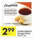 Compliments Orange Pekoe Tea