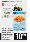 PC Blue Menu Wild Sea Scallops - 80-150 - 400 g Or PC Mussels In Sauce - 907 g